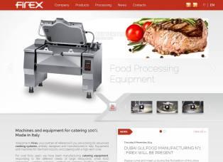 Firex Food equipment Website