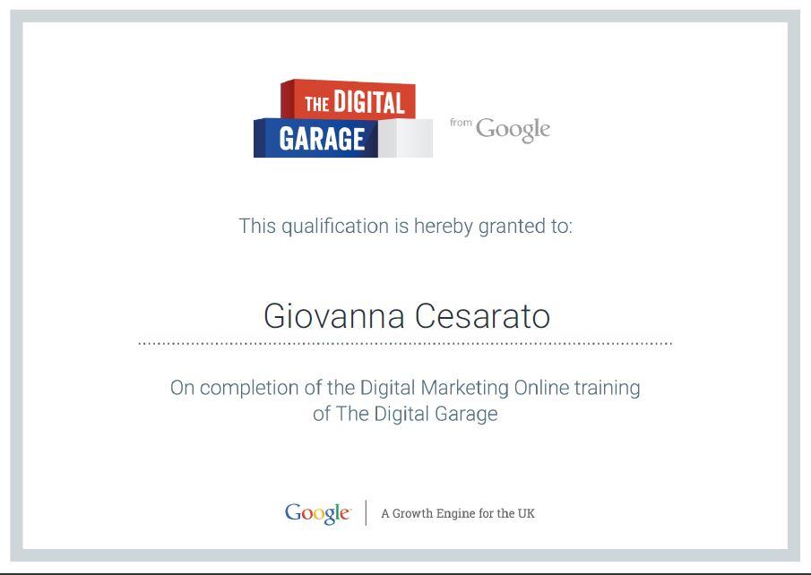 Digital Marketing Online Training Certification G Cesarato